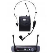 Microfone Lapela Sem Fio Headset Uhf-10bp Profissional