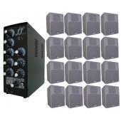 Kit 16 Caixa Som Branca E Amplificador E Setorizador 5 Canal