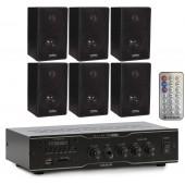 Kit Sonorização Ambiente Frahm Slim 1000 APP+ 6 Caixas Dsk65