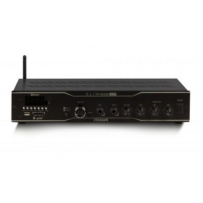 Amplificador Frahm Slim 4000 APP USB FM com 400w rms