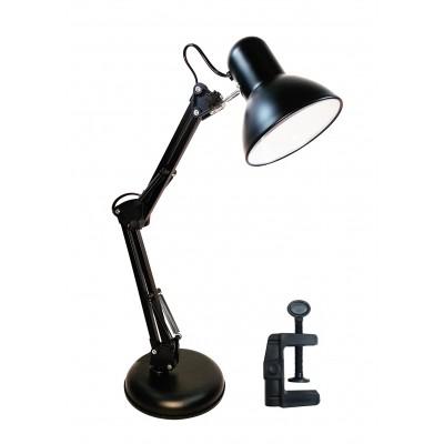 Luminária De Mesa Articulável Leitura Estudo Trabalho Preto